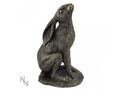 Moon Gazing Hare Bronze 18.5cm