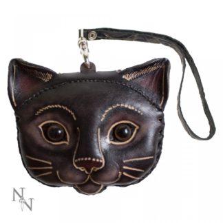 Kitty Leather Purse 11cm