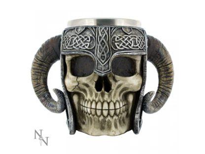 Viking Skull Tankard 19cm