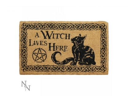 A Witch Lives Here Doormat 45x75cm