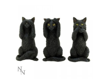 Three Wise Cats 9.5cm