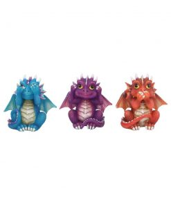 Three Wise Dragonlings 8.5cm
