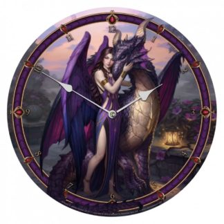 Dragon Sanctuary Clock (JR) 34cm