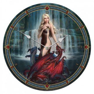 Dragon Bathers Clock (JR) 34cm