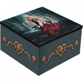Dragon Bathers Mirror Box (JR) 10cm
