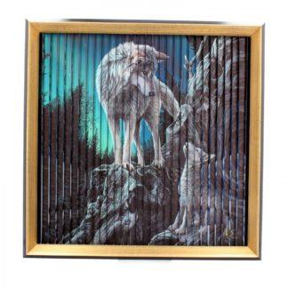 Lisa Parker Wolves Kinetic Picture (LP) 43cm