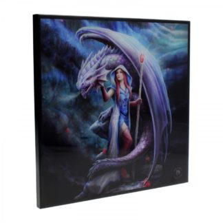 Dragon Mage Small Crystal Clear Picture (AS) 25cm