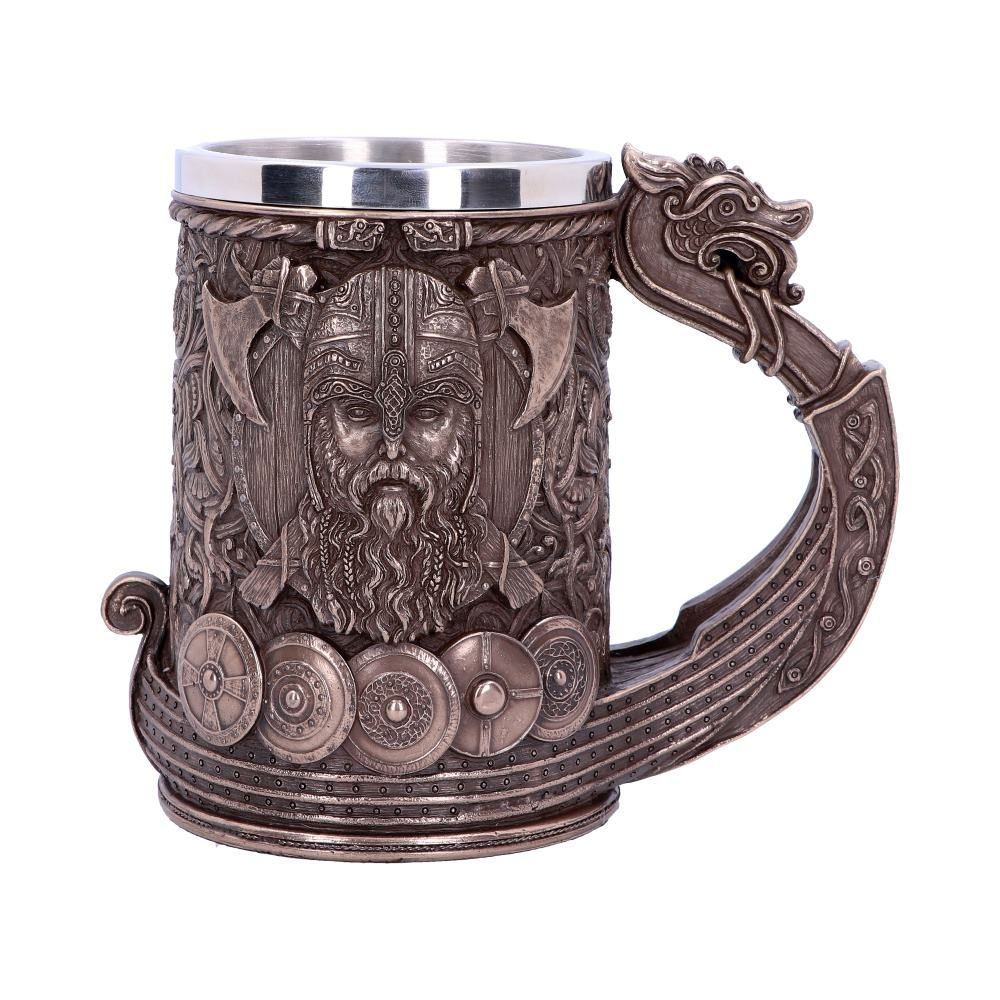 Bronze Drakkar Viking Tankard 15cm