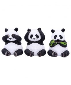 Three Wise Pandas 8.5cm