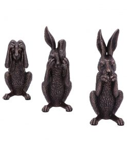 Three Wise Hares 14cm