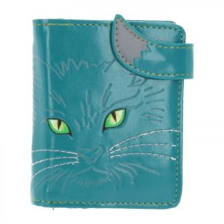 Turquoise Lucky Cat Purse (Small) 11.5cm