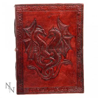 Double Dragon Leather Embossed Journal 12.5 x 18cm