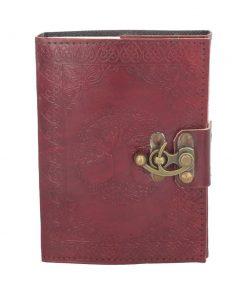 Tree Of Life Leather Journal w/lock 13 x 18cm