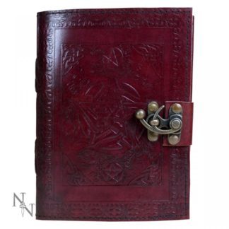 Pentagram Leather Journal w/lock 15 x 21cm
