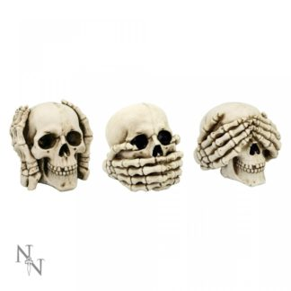 See No, Hear No, Speak No Evil Skulls 11cm