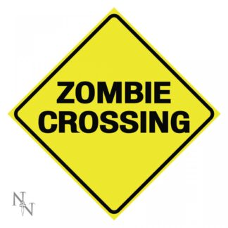 Zombie Crossing Sign 30cm