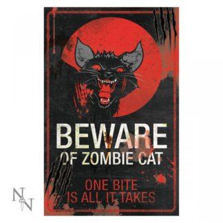 Zombie Cat Sign 43cm