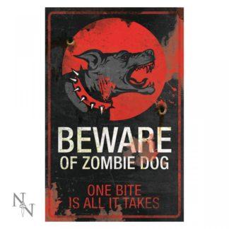 Zombie Dog Sign 43cm