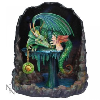 Time Dragon Emerald by Rose Khan 22cm