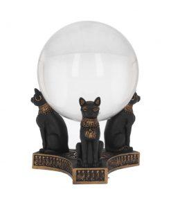 Bastet's Honour Crystal Ball Holder 12.7cm