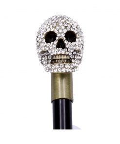 Jewelled Grin Swaggering Cane 95cm