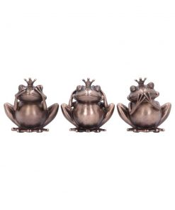 Three Wise Frogs 8.5cm
