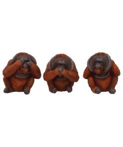 Three Wise Orangutans 10.5cm