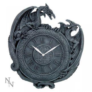 Dragon Duel Wall Clock 28cm