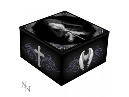 Gothic Prayer Mirror Box (AS) 10cm