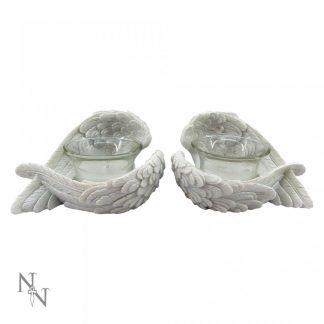 Angel Wings Tealights 8cm (set of 2)