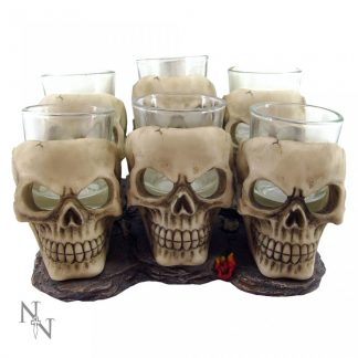 Six Shooter Skulls 10cm (set of 6)