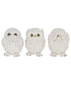 Three Wise Owls 8cm