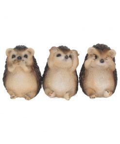 Three Wise Hedgehogs 8.5cm
