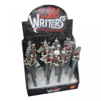 Wild Writers Knight Pens 16cm (Display of 12)