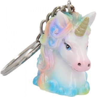 Unicorn Wild Keyrings 5cm (pack of 12)