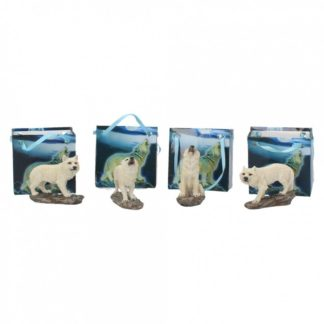 White Wolf Pack (Display of 24) 6cm