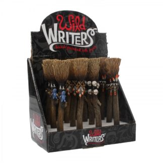 Wild Writers Broomstick Pens 16cm (Display of 12)