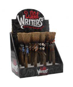 Wild Writers Broomstick Pens 16cm (Display of 12)