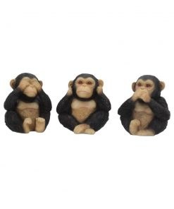 Three Wise Chimps 8cm