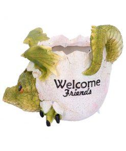 Welcome Friends Pot 17cm